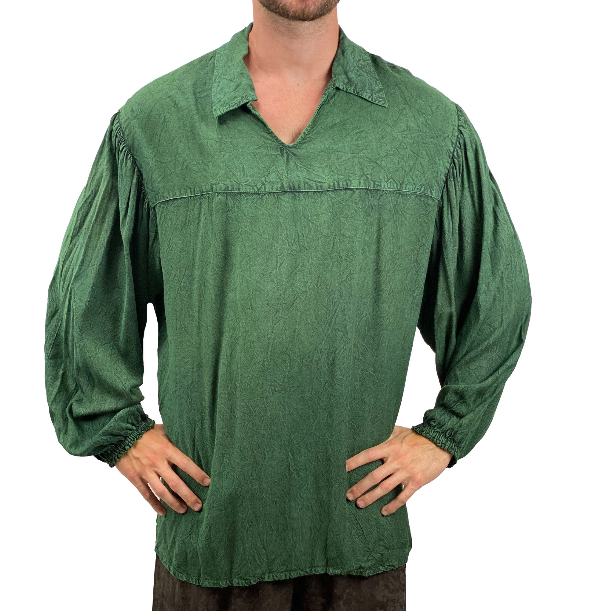 Mens Renaissance Shirt mens pirate shirt Green