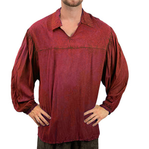 Mens Pirate shirt pirate top cotton pirate gear Red