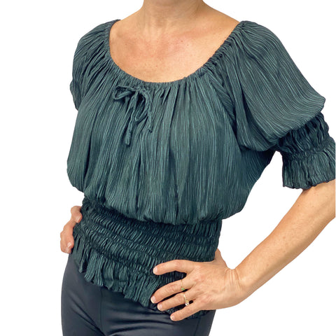 Womans Renaissance Top Pirate Blouse Gray