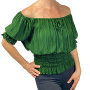 Renaissance Top Pirate Top short sleeve green