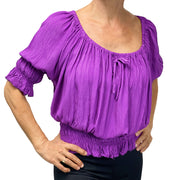 Womans Renaissance Top Pirate Blouse Lilac