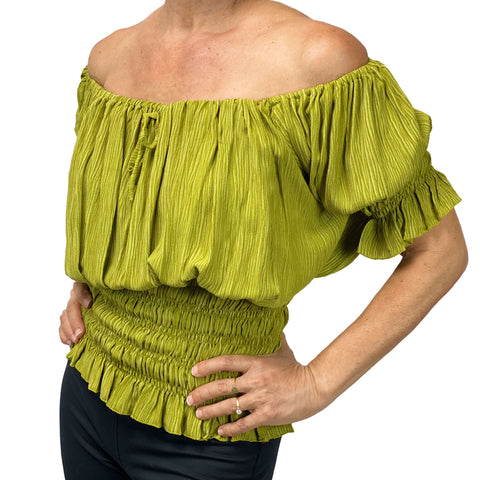 Womans Renaissance Top Pirate Blouse Lime