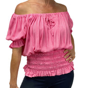 Womans Renaissance Top Pirate Blouse Pink