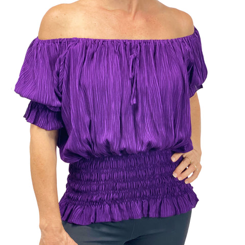 Womans Renaissance Top Pirate Blouse purple