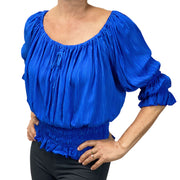 Womans Renaissance Top Pirate Blouse royal