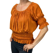 Womans Renaissance Top Pirate Blouse saffron