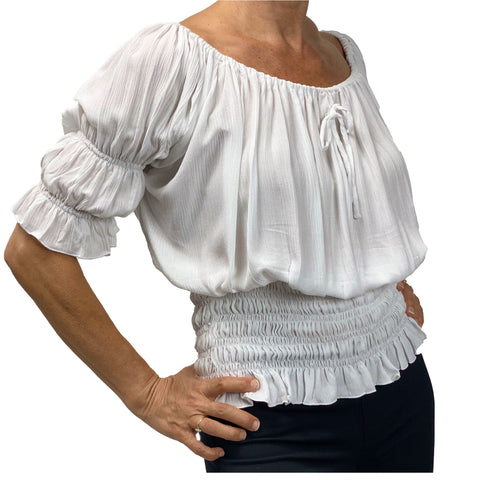 Womans Renaissance Top Pirate Blouse white