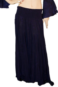 Renaissance Skirt Half Circle Belly Dance Skirt Black