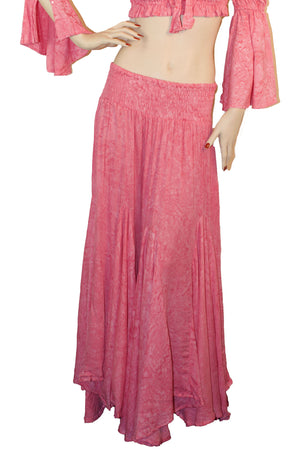 Renaissance Skirt Half Circle Belly Dance Skirt Pink