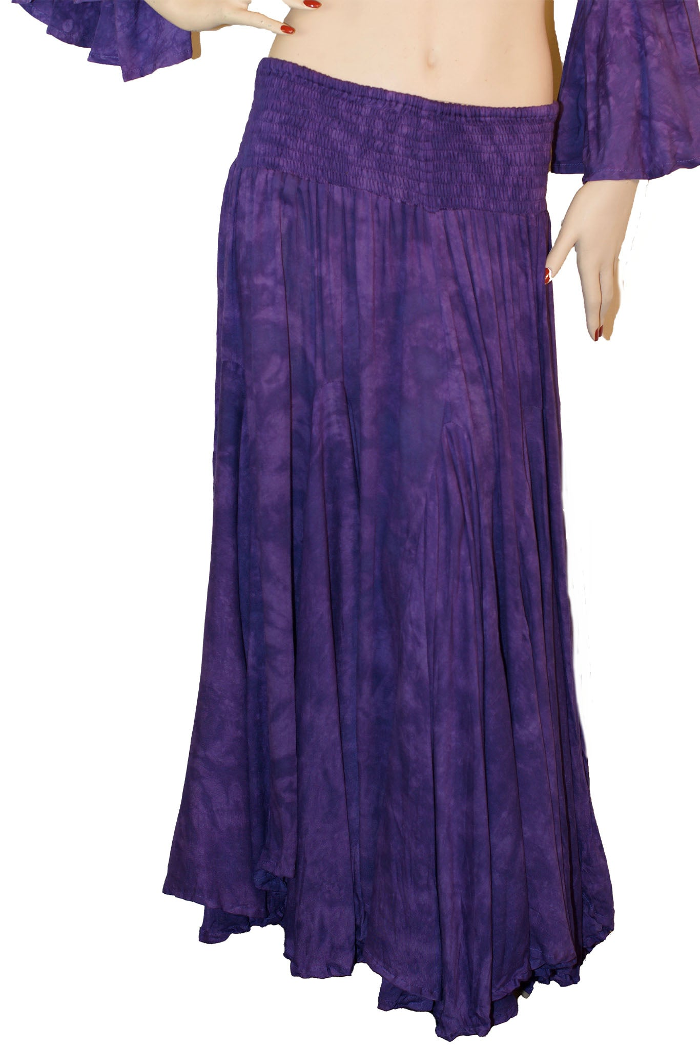 Renaissance Skirt Half Circle Belly Dance Skirt Purple