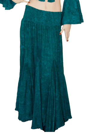 Renaissance Skirt Half Circle Belly Dance Skirt Teal