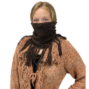 Knit scarf cowl wool hat Brown mask