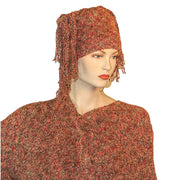 Knit scarf cowl wool hat Rust hat