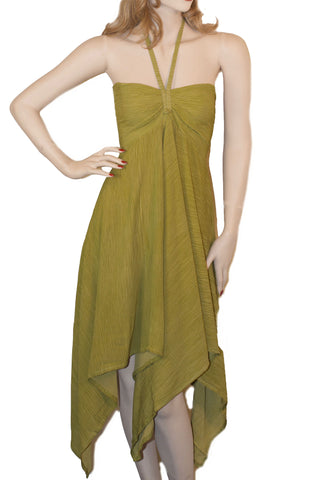 Renaissance Dress Cruisewear beach dress Lime