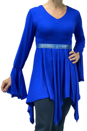 Woman's renaissance lycra top Blue