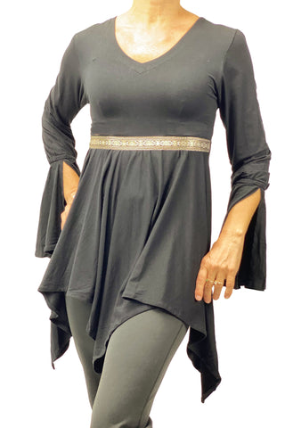 Woman's renaissance lycra top Gray