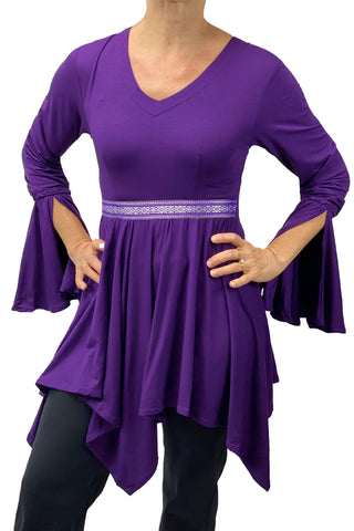 Woman's renaissance lycra top Purple