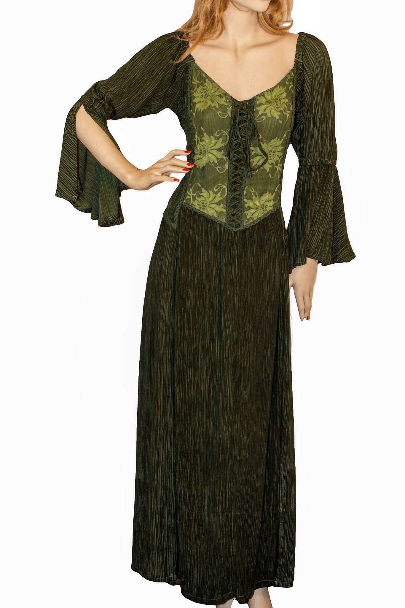 Renaissance Dress Victorian Dress Green