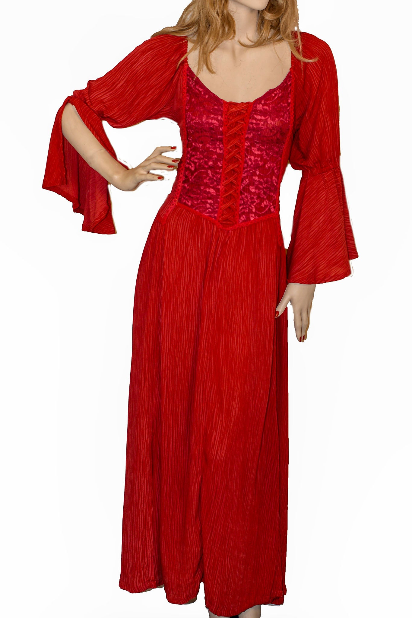 Renaissance Dress Victorian Dress Red