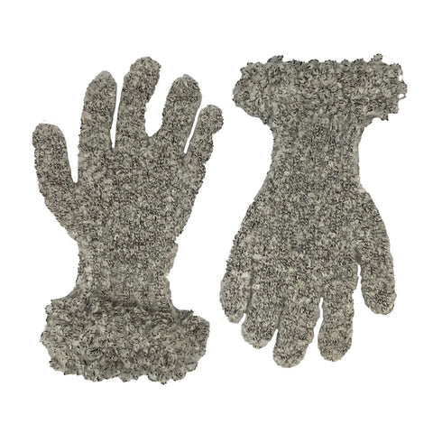 Wool acrylic knit gloves super soft Cream