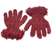 Wool acrylic knit gloves super soft Rose
