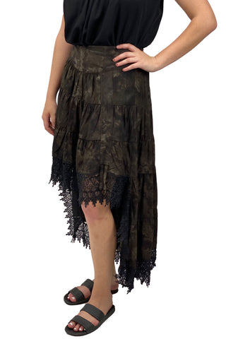Renaissance Skirt Steampunk Skirt Pirate Skirt Brown