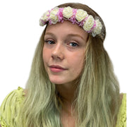 Flower Garland adjustable head piece White Pink