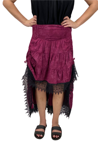 Renaissance Skirt Steampunk Skirt Pirate Skirt Burgundy