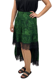 Renaissance Skirt Steampunk Skirt Pirate Skirt Green