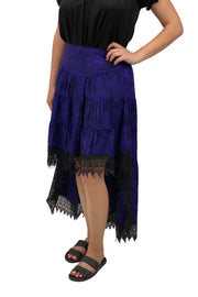 Renaissance Skirt Steampunk Skirt Pirate Skirt Purple