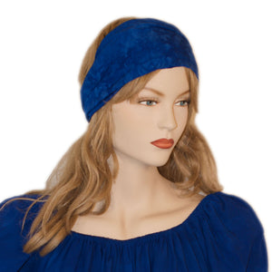 Elastic Hair band stretch Bandana Blue