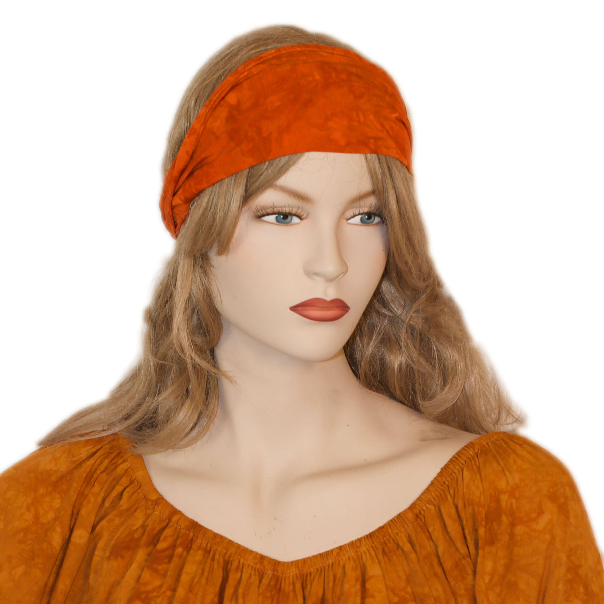 Elastic Hair band stretch Bandana Orange