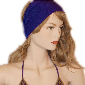 Elastic Hair band stretch Bandana Purple