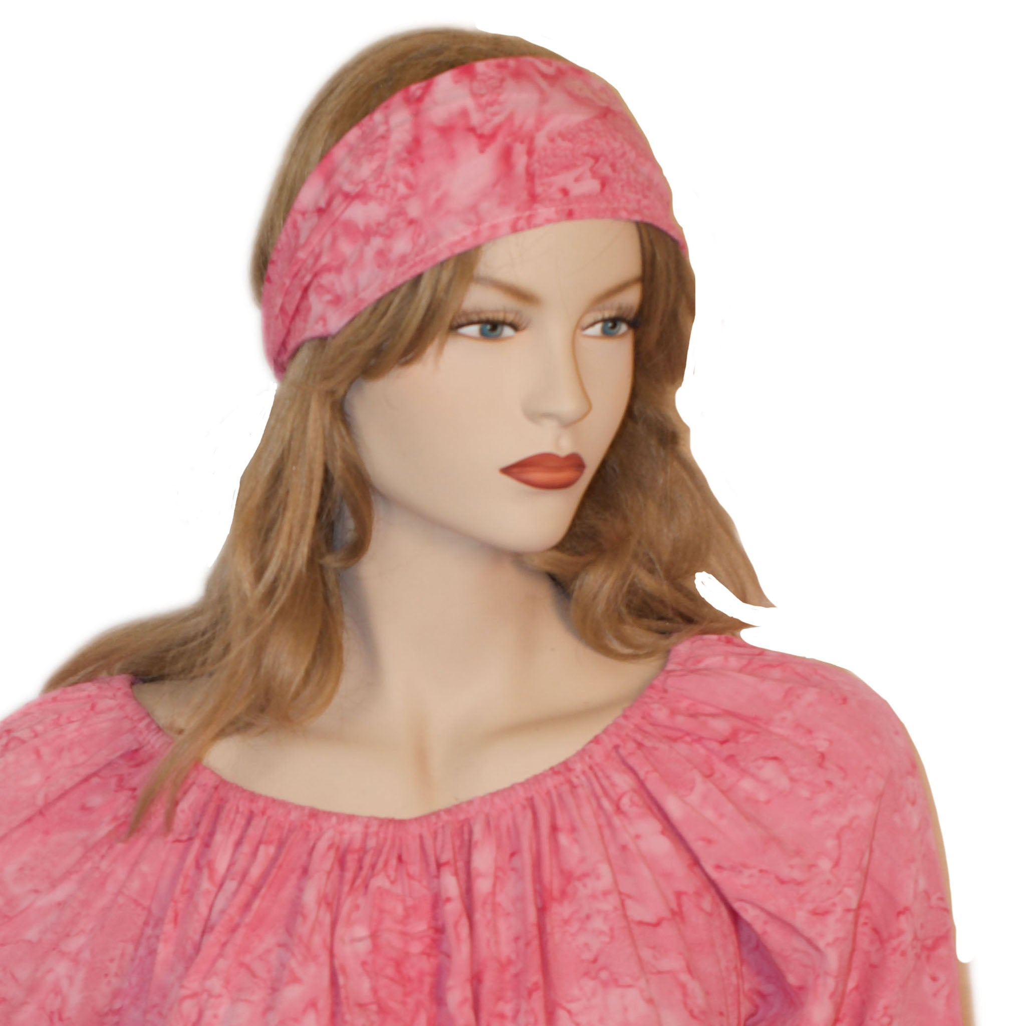 Elastic Hair band stretch Bandana Pink