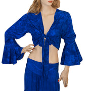 Womans Gypsy Top Renaissance Top Belly Dance Top Blue