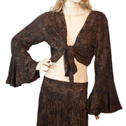 Womans Gypsy Top Renaissance Top Belly Dance Top brown