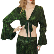 Womans Gypsy Top Renaissance Top Belly Dance Top green