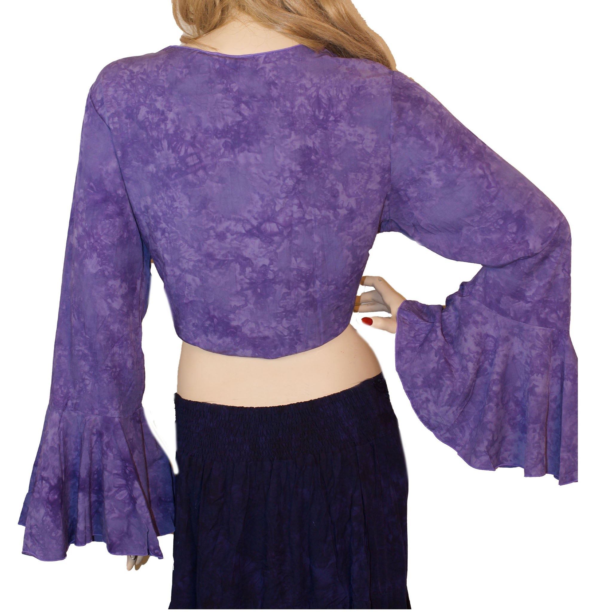 Womans Gypsy Top Renaissance Top Belly Dance Top Back view