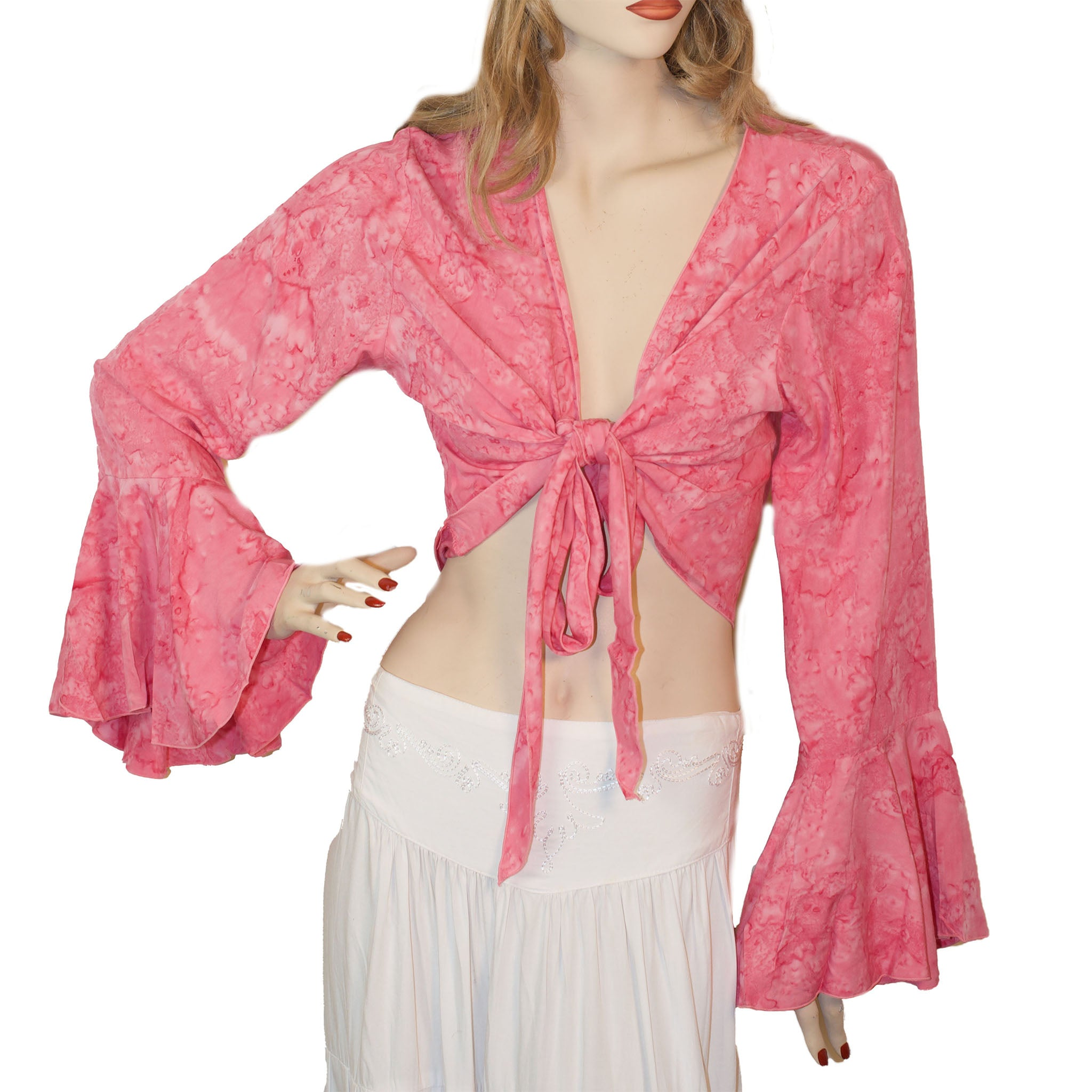 Womans Gypsy Top Renaissance Top Belly Dance Top pink