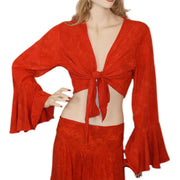 Womans Gypsy Top Renaissance Top Belly Dance Top Red