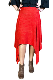 Renaissance skirt Fairy hem skirt Red