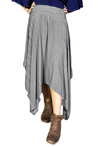 Renaissance skirt Fairy hem skirt Gray