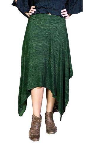 Renaissance skirt Fairy hem skirt Green