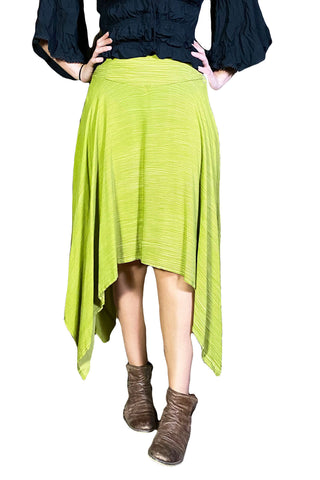 Renaissance skirt Fairy hem skirt Lime