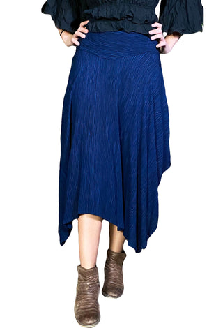 Renaissance skirt Fairy hem skirt Navy