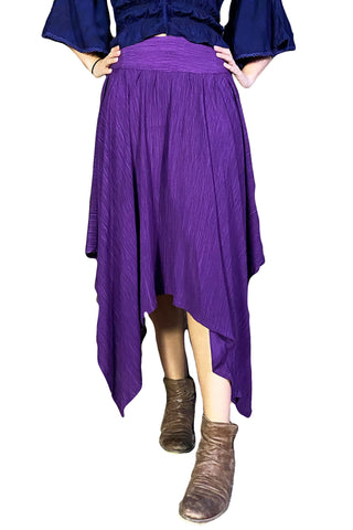 Renaissance skirt Fairy hem skirt Purple