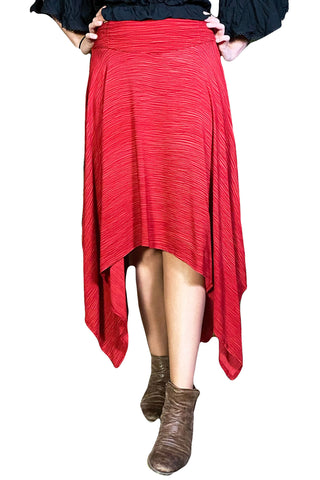 Renaissance skirt Fairy hem skirt Wine Red