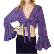 Womans Gypsy Top Renaissance Top Belly Dance Top Lilac