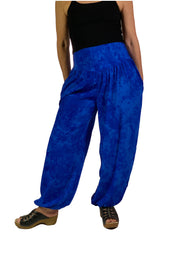 Renaissance Pants Pocket Pirate Pants Blue
