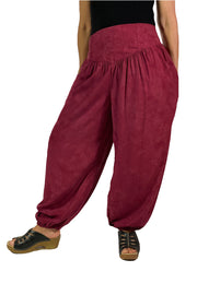Renaissance Pants Pocket Pirate Pants Burgundy